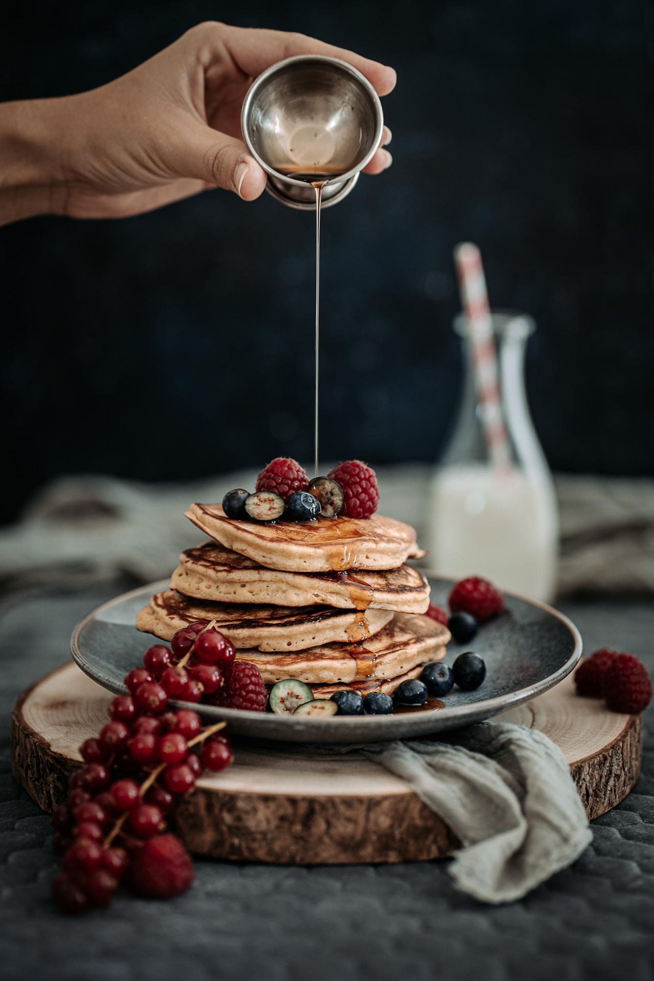 Photographe culinaire pancakes sirop d erable landes sud ouest